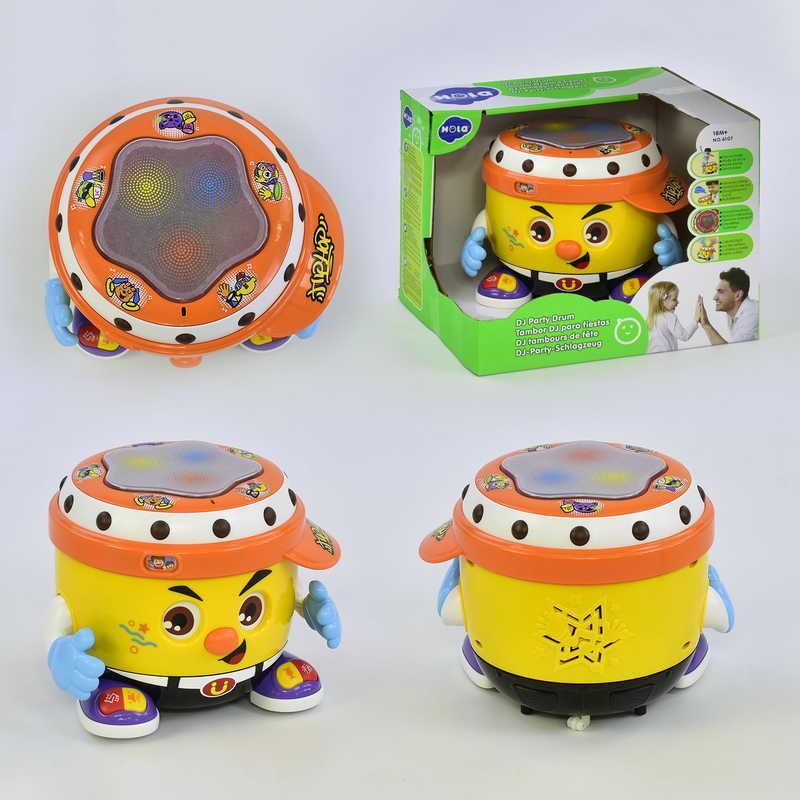 """Запальний барабан 6107 (6) """"Hola"""", світло, звук, в коробці"""