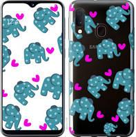"""Чехол на Samsung Galaxy A20e A202F Слоники """"4541c-1709-25032"""""""