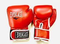 Перчатки боксерские красные EVERLAST 8 унций PVC