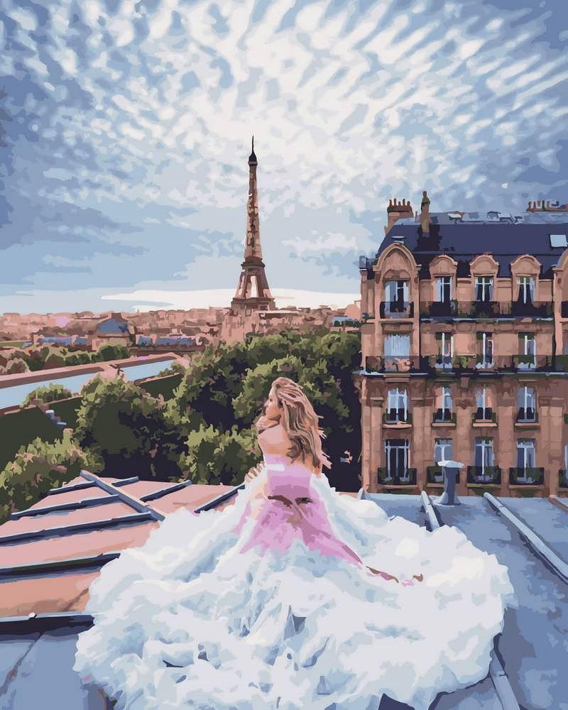 Картина по Номерам 40x50 см. Парижские мечты Rainbow Art