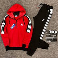 😜 Спортивный костюм - теплый красный спортивный костюм Adidas