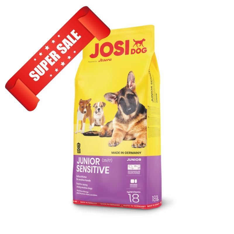 Сухой корм для собак JosiDog Junior Sensitive 18 кг