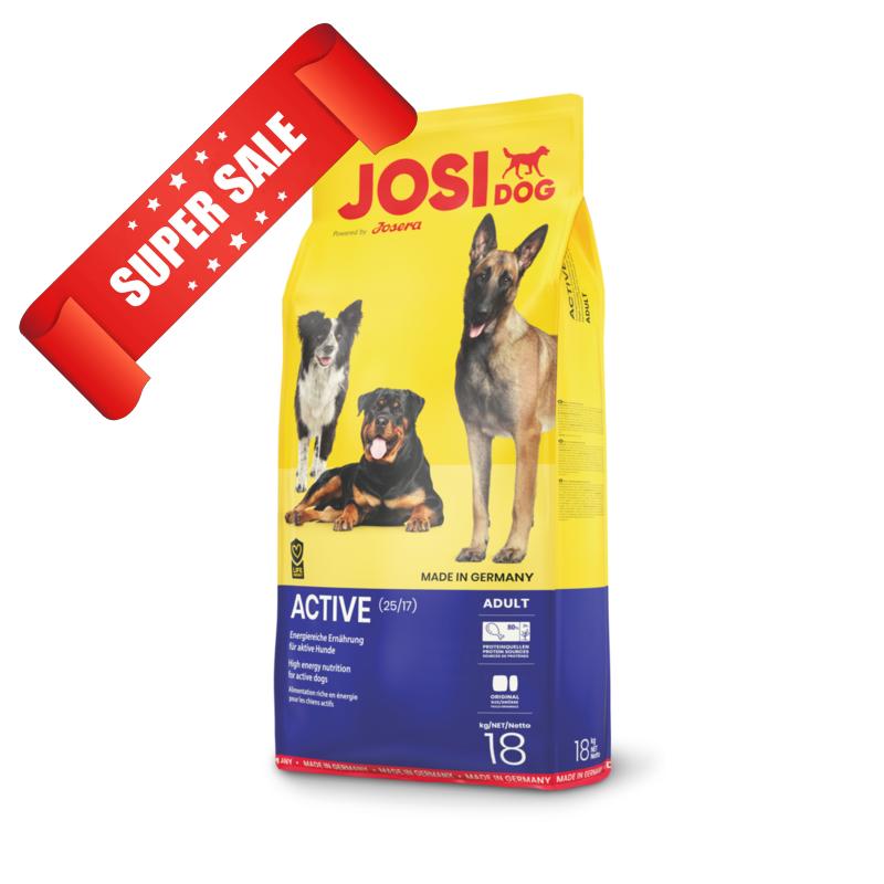 Сухой корм для собак JosiDog Active 18 кг
