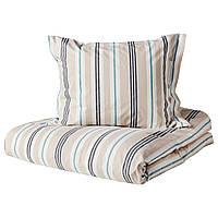 IKEA SMALSTAKRA Комплект постельного белья 150x200/50x60 см (604.435.23), фото 1