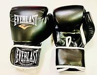 Перчатки боксерские чёрные EVERLAST 8 унций PVC, фото 1