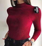Женский гольф рубчик с длинным рукавом и узором 7909237, фото 1