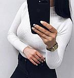 Женский гольф рубчик с длинным рукавом и узором 7909237, фото 3