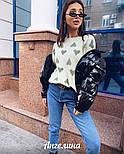 Короткая женская лаковая куртка на молнии без капюшона 3701172, фото 4