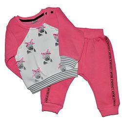 """Детский """"совушка"""" костюм для девочек на флисе , размер 9-12-18-24. (4 ед в уп)"""