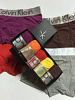 Набор трусов Calvin Klein Steel 5 штук ХЛОПОК  Мужские трусы  Реплика