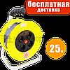 Удлинитель сетевой на катушке с выключателем, переноска, 3GX2.5mm, 4 розетки, фото 10