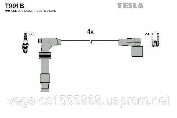 Комплект проводів запалювання Tesla T991B на Opel Zafira / Опель Зафіра