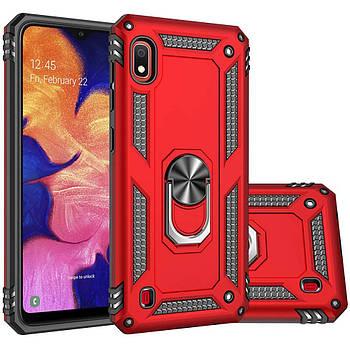 Ударопрочный чехол Serge Ring магнитный держатель для Samsung Galaxy A10 (A105F)
