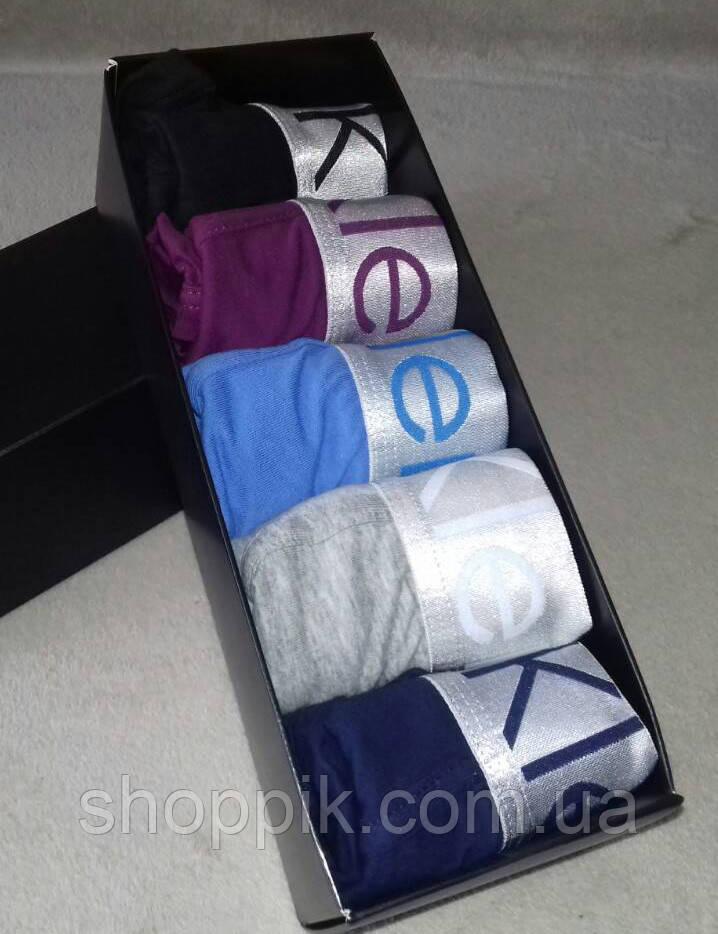 Трусы мужские Calvin Klein Steel 5 штук  в фирменной упаковке  Набор трусов  Реплика