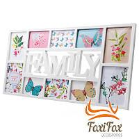 Фоторамка семейная на 10 фото Family 73*37 см
