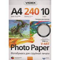 Фотобумага Videx А4 глянцевая, 240 г/м2, 10 л, чешуя