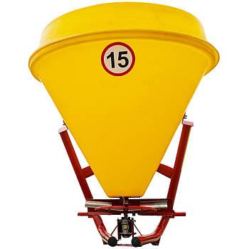 Розкидач міндобрив Jar-Met 300  (пластик) до мінітрактора