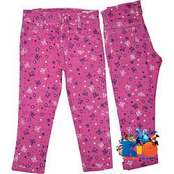 """Летние коттоновые брюки """"Бабочки""""  для девочки от 8-12 лет (5 ед. в уп.)"""