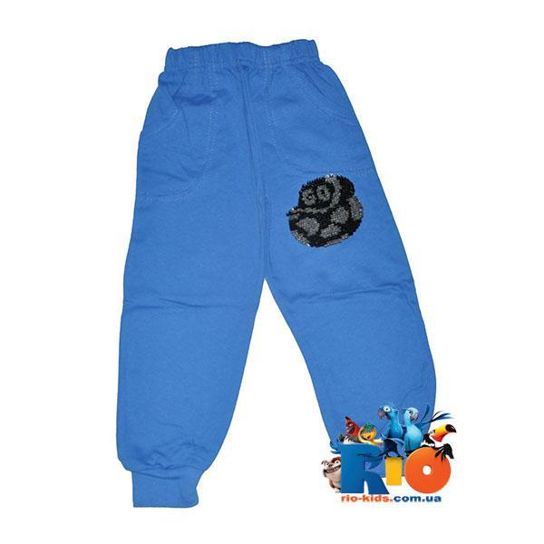 Детские спортивные штаны из плотного трикотажа (Турция), рисунок из пайетков, для мальчиков 5-8лет (4 ед в уп)
