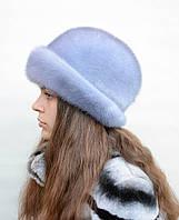 """Женская норковая шляпа """"Шляпа-отворот"""""""