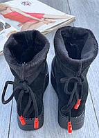Ботинки женские Евро-Мех 6 пар в ящике черного цвета 36-40, фото 3