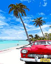 Картина по Номерам 40x50 см. Кубинский пляж Rainbow Art
