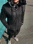 😜 Парка - Мужскаяя зимняя парка черного цвета, фото 2
