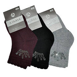 Детские носочки с камушками  на махре, для девочек  (12 ед в уп)