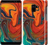 "Чехол на Samsung Galaxy A8 Plus 2018 A730F Абстрактный фон ""4547c-1345-25032"""