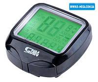Велокомп'ютер провідний SunDing SD-568 спідометр, годинник, підсвічування екрану, термометр, калорії, фото 1
