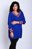 Свитер женский с цветными полосками.р42-48 (код7514-00)