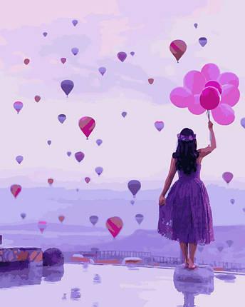 Картина по Номерам 40x50 см. Фиолетовый мир Rainbow Art, фото 2