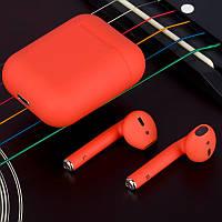 Беспроводные наушники TWS i12 5.0 Bluetooth сенсорные с магнитным кейсом (Красные)