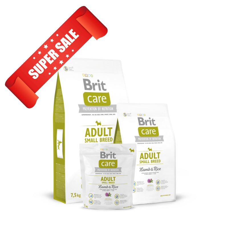 Сухой корм для собак Brit Care Adult Small Breed Lamb & Rice 1 кг