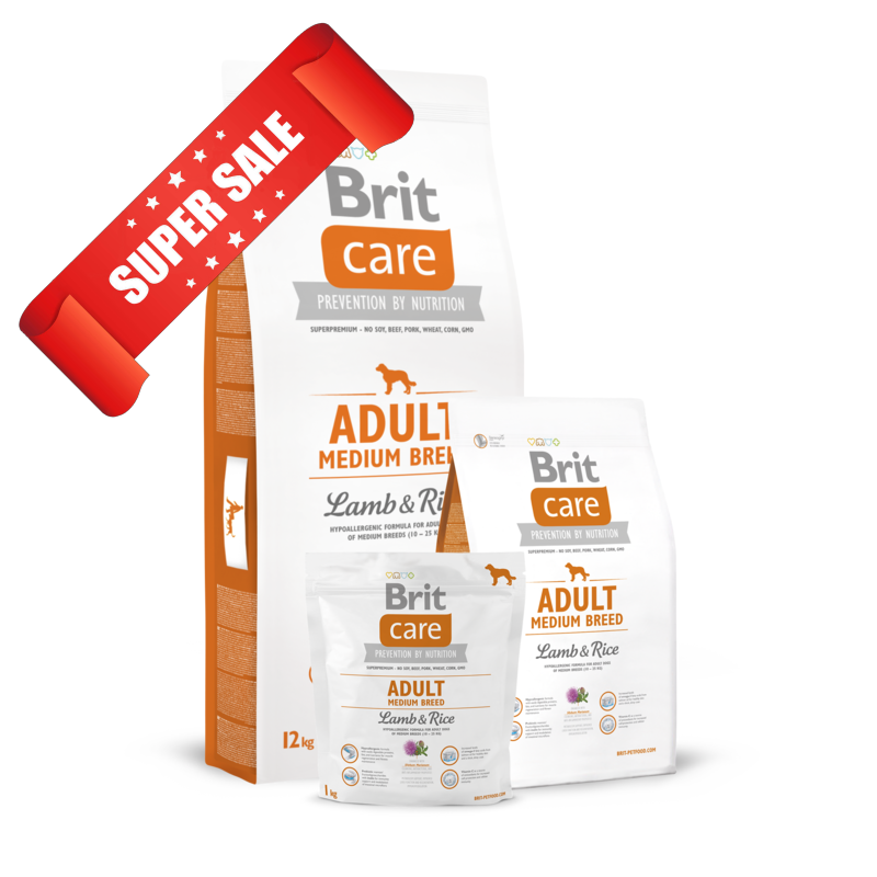 Сухой корм для собак Brit Care Adult Medium Breed Lamb & Rice 1 кг