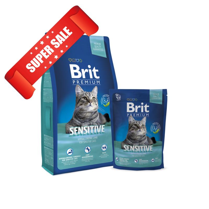 Сухой корм для котов Brit Premium Cat Sensitive 8 кг