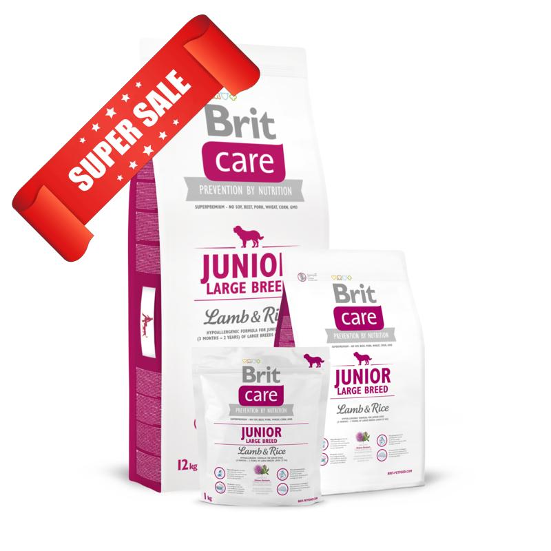 Сухой корм для собак Brit Care Junior Large Breed Lamb & Rice 3 кг
