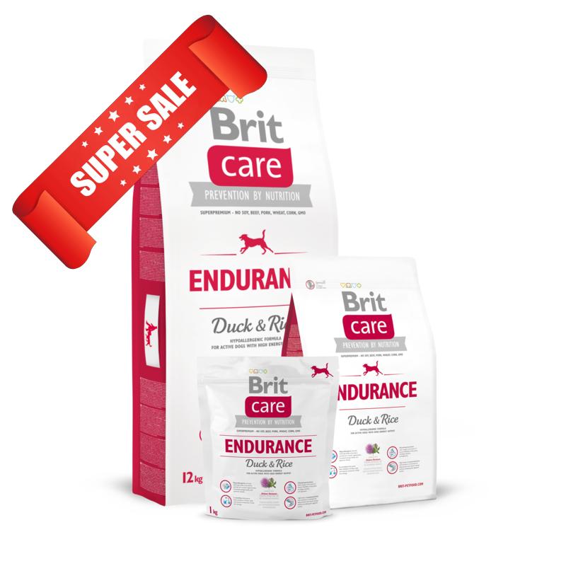 Сухой корм для собак Brit Care Endurance Duck & Rice 3 кг