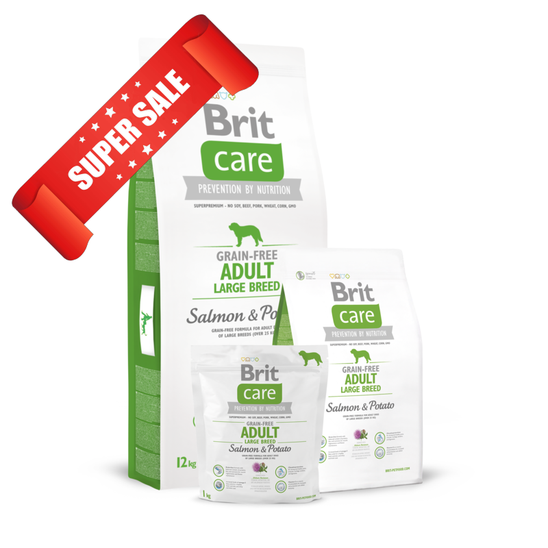 Сухой корм для собак Brit Care Grain-free Adult Large Breed Salmon & Potato 12 кг