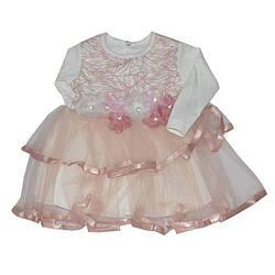 Платье красивое ,размер 6-12 мес (3 ед. в уп.)