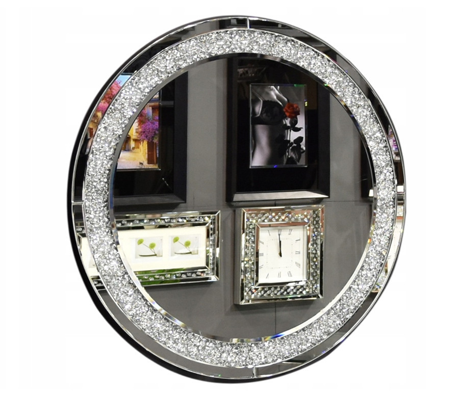 Дзеркало кругле в кристалах 16TM010 90 x 90 см