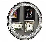 Зеркало круглое в кристаллах 16TM010   90 x 90 см