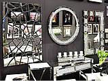 Зеркало круглое в кристаллах 16TM010   90 x 90 см, фото 4