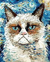 Картина по Номерам 40x50 см. Сердитый кот Rainbow Art