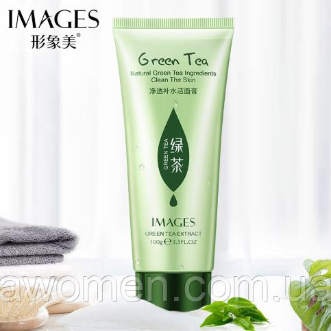 Пенка для умывания Images Green Tea Cleanser с зелёным чаем 100 g