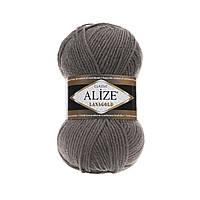 Пряжа для вязания Alize Lanagold 348 темно-серый (Ализе Лана голд)