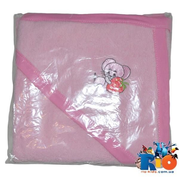"Полотенце с капюшоном для купания ""Конверт"", махра, размер 60х80 см (мин заказ 1 ед)"