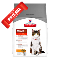 Сухой корм для котов Hill's Science Plan Feline Adult Hairball Control Chicken 5 кг