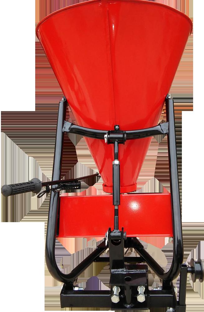 Розкидач міндобрив РУМ 100 МТ  до мототрактора під 1 точку і ремень (ШИП)