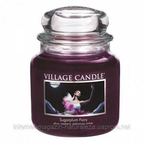 Ароматическая свеча Village Candle Сахарная слива (время горения до 105 ч), фото 2
